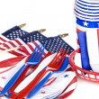 Stock Photo: July fourth utensils