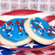 Fourth of July cookies — 图库照片