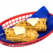 Basket of corn on the cob — Stock Photo