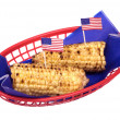 ストック写真: July fourth corn on cob