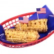 Stockfoto: July fourth corn on cob