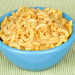 Bowl of macaroni and cheese - Stock Photo