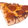 Slice of pepperoni pizza — Stock Photo