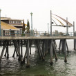 Stock Photo: Pier and restaurant