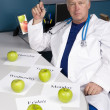 Doctor plans his healthy diet — Stock Photo