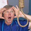 Stock Photo: Doctor and noose
