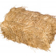 Bale of hay isolated on white — Stock Photo #7637848