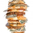 Money sandwich - Foto Stock