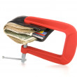 Wallet clamped shut — Stock Photo #7638052