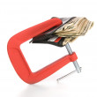 Wallet clamped shut — Stock Photo #7638054