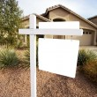 Blank home for sale sign — Stock Photo #7638075
