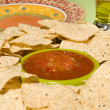Royalty-Free Stock Photo: Fresh tortilla chips and salsa