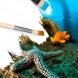 Underwater scenery conceptual painting - Foto Stock