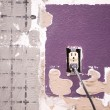 Interior wall and outlet — Stock Photo