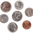 Stock Photo: Set of U.S. Coins