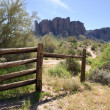 Foto Stock: Superstition Mountains Setting