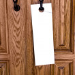 Blank doorknob advertisement - Stock Photo