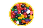 Bowl of jellybeans — Stock Photo