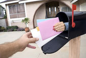 Delivering mail — Stock Photo