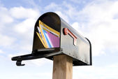 Mailbox and mail — Stock Photo
