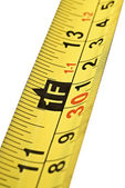Close up of tape measure scale — Stock Photo