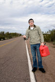 Stranded on road without gasoline — Stock Photo