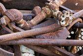 Bin of scrap metal — Stock Photo