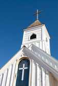 Old Rural Church Steeple — Stock Photo