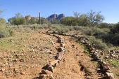 Vzdálené pouštní stezka — Stock fotografie
