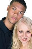 Black man and white woman couple — Stock Photo