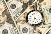 Clock on Cash — Stockfoto