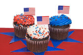Fourth of July cupcakes — 图库照片