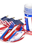July fourth utensils — Stock fotografie