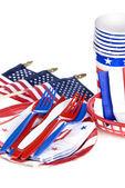 July fourth utensils — Stock Photo