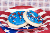 Fourth of July cookies — Zdjęcie stockowe