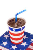 Ice cold July fourth soda — Stock Photo