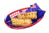 July fourth corn on the cob — Stock Photo