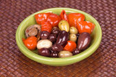 Bowl of assorted olives — Stock Photo