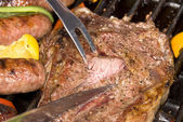 Barbecued steak — Stock Photo