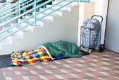 Homeless person sleeping — Stock Photo