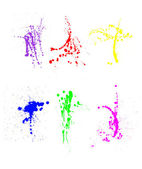Assortment of paint splatters — Stock Photo