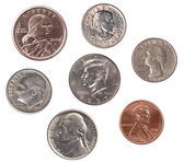 Set of U.S. Coins — Stock Photo