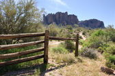 Superstition Mountains Setting — Stok fotoğraf