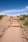 Dirt and rock stairway — Stock Photo