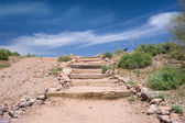 Stairs in the desert — Stock Photo