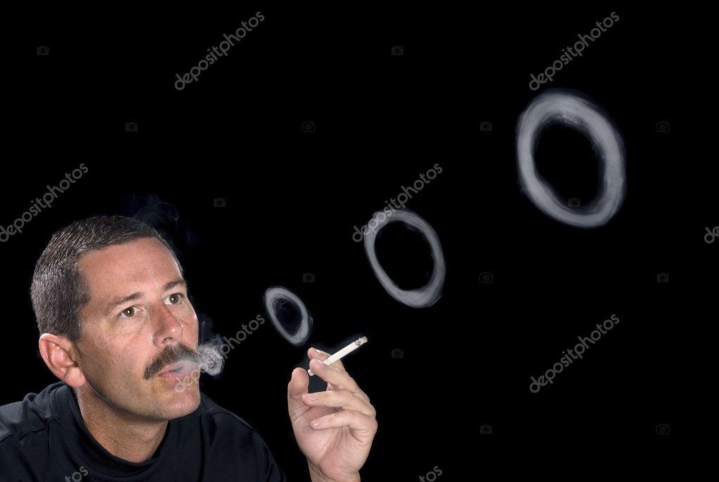 Как сделать колечки из сигареты