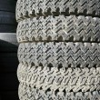Stock Photo: Old spiked tires