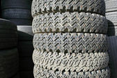 Old spiked tires — Stock Photo