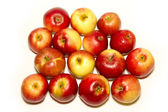 Group of red apples isolated on white — Stock Photo