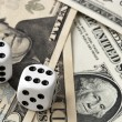 Stock Photo: Dice on Money
